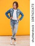 full length portrait of a... | Shutterstock . vector #1087621673