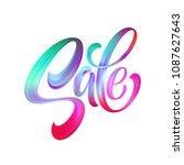 sale calligraphic lettering.... | Shutterstock .eps vector #1087627643