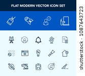 modern  simple vector icon set... | Shutterstock .eps vector #1087643723