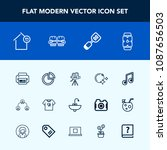 modern  simple vector icon set... | Shutterstock .eps vector #1087656503