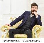 macho attractive and elegant on ... | Shutterstock . vector #1087659347