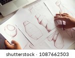 production designer sketching... | Shutterstock . vector #1087662503