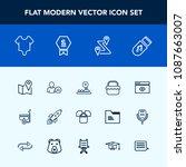 modern  simple vector icon set...   Shutterstock .eps vector #1087663007