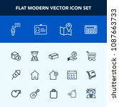 modern  simple vector icon set... | Shutterstock .eps vector #1087663733