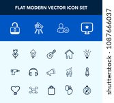 modern  simple vector icon set...   Shutterstock .eps vector #1087666037