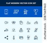 modern  simple vector icon set...   Shutterstock .eps vector #1087669463