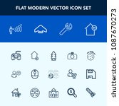 modern  simple vector icon set... | Shutterstock .eps vector #1087670273