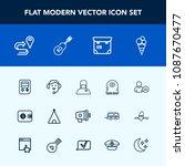 modern  simple vector icon set...   Shutterstock .eps vector #1087670477