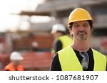 portrait of a caucasian civil... | Shutterstock . vector #1087681907