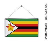 flag of zimbabwe. the symbol of ... | Shutterstock .eps vector #1087685423