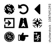 filled set of 9 direction icons ...   Shutterstock .eps vector #1087691393
