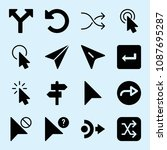 filled set of 16 arrows icons...   Shutterstock .eps vector #1087695287