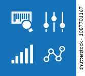 filled set of 4 lines icons...   Shutterstock .eps vector #1087701167
