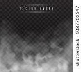 fog or smoke isolated... | Shutterstock .eps vector #1087702547