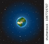 the earth in space. vector... | Shutterstock .eps vector #1087725707
