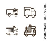 lorry related set of 4 icons...   Shutterstock .eps vector #1087727183