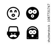 emoticon related set of 4 icons ... | Shutterstock .eps vector #1087731767