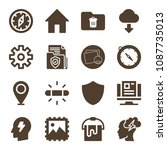 interface related set of 16... | Shutterstock .eps vector #1087735013