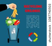 a man's hand is throwing out... | Shutterstock .eps vector #1087740503