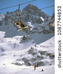 Small photo of Tatry mountain, Poland - February, 2008: ski lift on the Kasprowy Wierch, Hala Gasienicowa