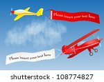Airplane Banner With Place For...