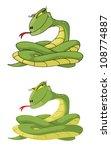 illustration of a girl snake... | Shutterstock .eps vector #108774887