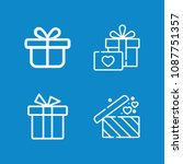 outline present icon set such... | Shutterstock .eps vector #1087751357