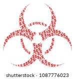 biohazard collage of dollars... | Shutterstock .eps vector #1087776023