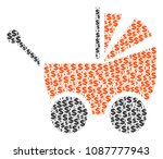 baby carriage composition of... | Shutterstock .eps vector #1087777943