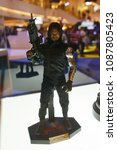 Small photo of Bangkok, Thailand - April 28, 2018: Mini Model Bucky Barnes Or Winter Soldier (Sebastian Stan) from A Marvel Superhero Movie Avengers 3: Infinity War Displays at the Theater