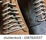 classic shoe with shoelace. | Shutterstock . vector #1087820537