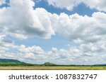 clouds form while the sky is... | Shutterstock . vector #1087832747