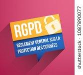 gdpr  general data protection... | Shutterstock .eps vector #1087890077