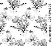 vector geometric alchemy... | Shutterstock .eps vector #1087896803