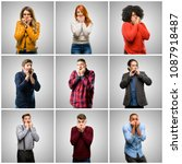 group of mixed people  women...   Shutterstock . vector #1087918487