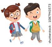 vector illustration of school...   Shutterstock .eps vector #1087943573