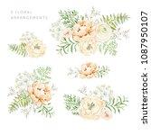 set of the floral arrangements. ... | Shutterstock .eps vector #1087950107