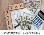 time for tax paying  fiscal... | Shutterstock . vector #1087959317