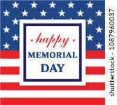 memorial day greeting card.... | Shutterstock .eps vector #1087960037