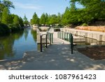 north river walk area near the... | Shutterstock . vector #1087961423