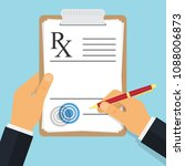 doctor writing notes on a... | Shutterstock .eps vector #1088006873