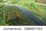 aerial view of natural river in ... | Shutterstock . vector #1088007353
