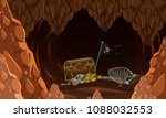 inside the mystery cave and... | Shutterstock .eps vector #1088032553