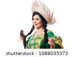 brazilian woman wearing typical ... | Shutterstock . vector #1088035373