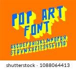 pop art font set 3d  | Shutterstock .eps vector #1088064413