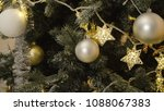 decorated christmas tree with... | Shutterstock . vector #1088067383