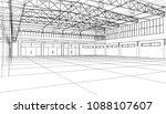 interior sketch. vector...   Shutterstock .eps vector #1088107607