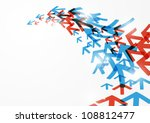 abstract arrow background | Shutterstock .eps vector #108812477