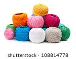 ball of yarn isolated on white background - stock photo