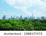 lumpinee park with the view of... | Shutterstock . vector #1088157473